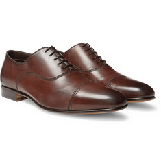 Santoni Leather Cap-Toe Oxford Shoes