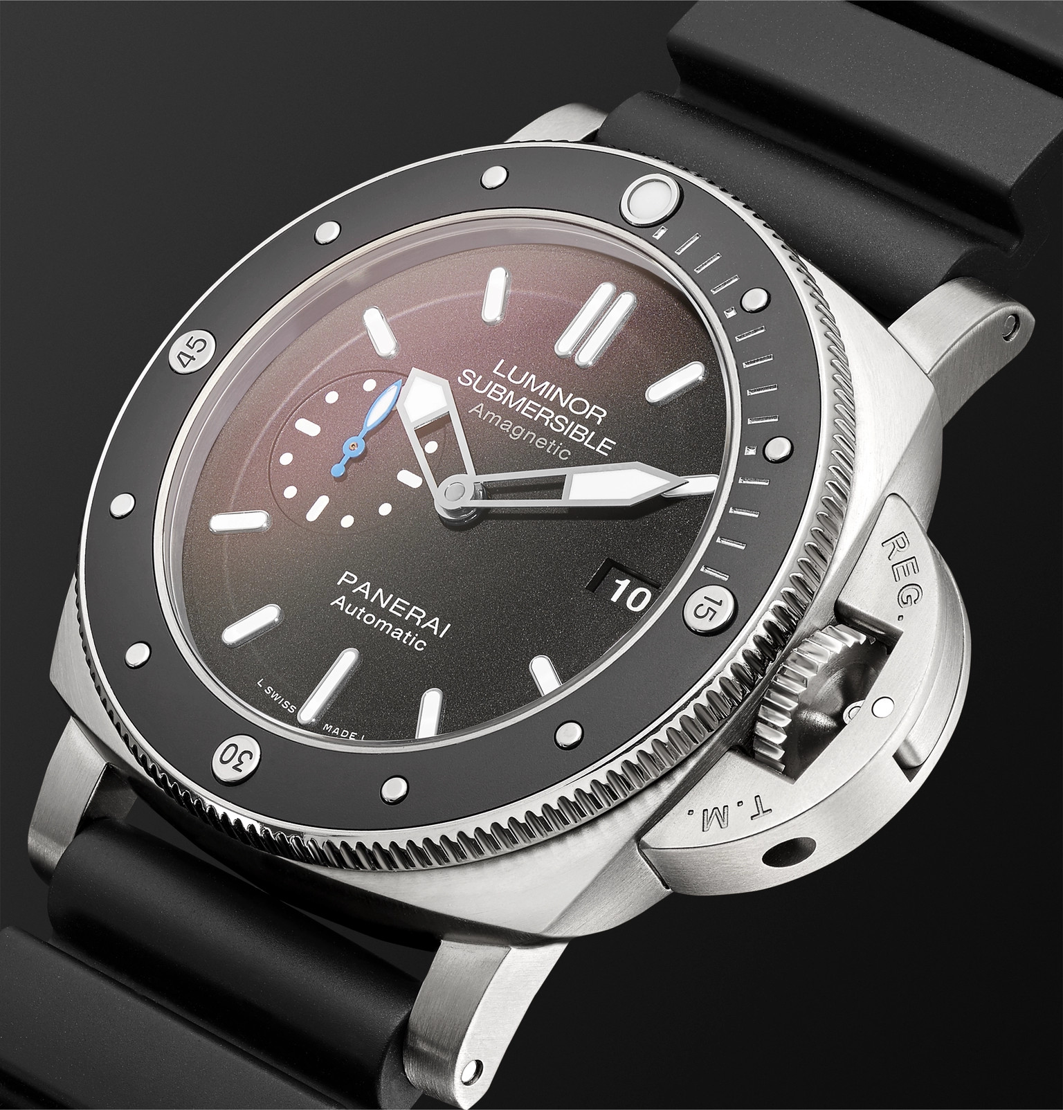 04e60e8836d9 Officine PaneraiLuminor Submersible 1950 Amagnetic 3 Days Automatic 47mm  Titanium and Rubber Watch