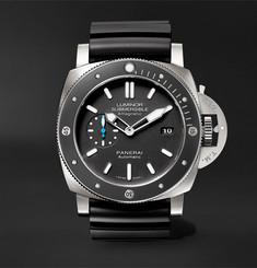 Officine Panerai Luminor Submersible 1950 Amagnetic 3 Days Automatic 47mm Titanium and Rubber Watch