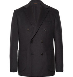 Altea - Midnight-Blue Double-Breasted Cashmere Blazer