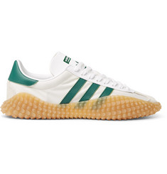 adidas Originals Country x Kamanda Nylon, Leather and Suede Sneakers