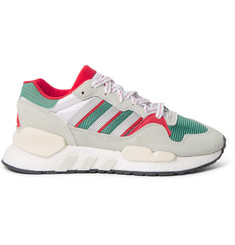 adidas Originals EQT ZX Suede, Mesh and Leather Sneakers