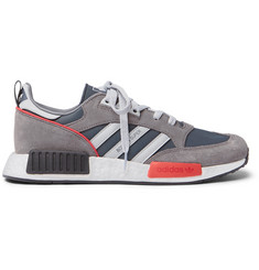 adidas Originals Boston_R1 Suede, Mesh and Leather Sneakers