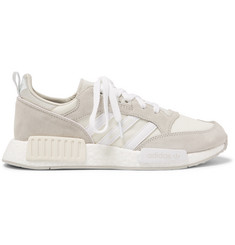 adidas Originals Boston Super X R1 Suede and Mesh Sneakers
