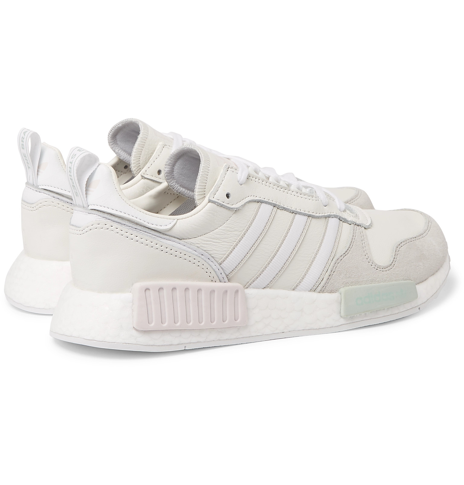 92eb004a4095f9 adidas Originals - Rising Star X R1 Leather and Suede Sneakers