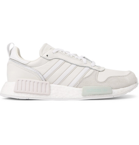 eb49975f583ef2 Adidas Originals Rising Star X R1 Leather And Suede Sneakers - White