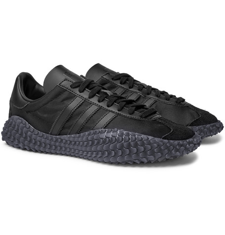huge discount 6e231 1761b adidas OriginalsCountry x KAMANDA Suede-Trimmed Mesh and Leather Sneakers