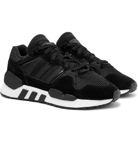 Zx 930 X Eqt Mesh And Suede Sneakers - Black