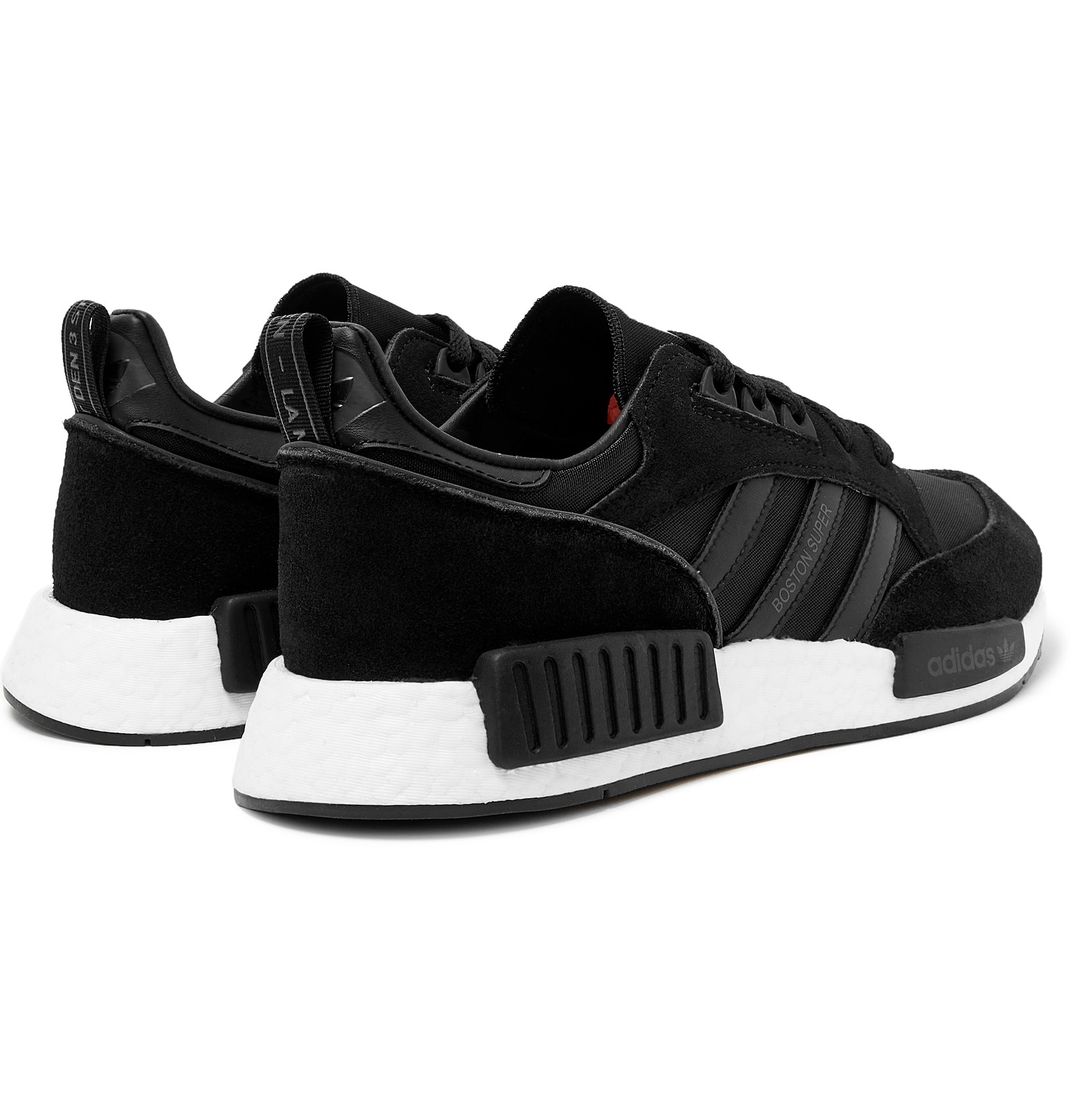 the latest 43814 47043 adidas OriginalsBoston Super x R1 Suede, Leather and Mesh Sneakers