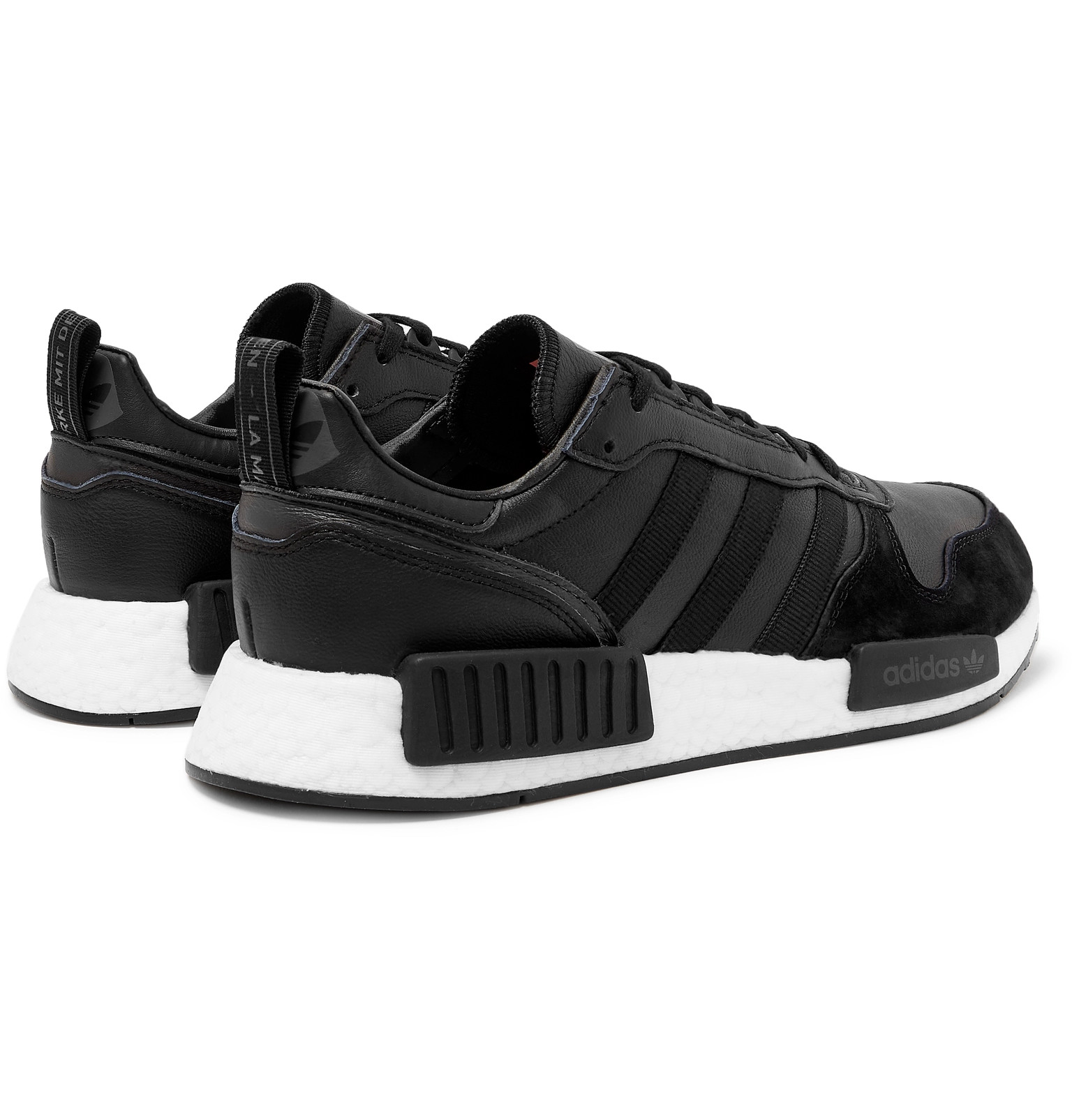 6785d3afca702c adidas OriginalsRising Star x R1 Grosgrain-Trimmed Leather and Suede  Sneakers