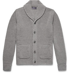 Ralph Lauren Purple Label - Shawl-Collar Ribbed Cashmere Cardigan