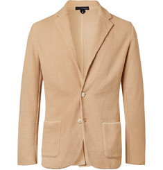 Lardini Beige Slim-Fit Textured-Cotton Blazer
