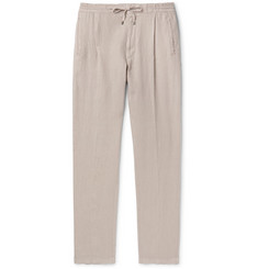 Lardini Tapered Pleated Linen Drawstring Trousers