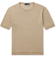 Lardini Striped Linen T-Shirt