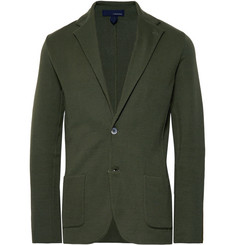 Lardini Dark-Green Slim-Fit Unstructured Cotton Blazer