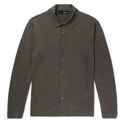 Lardini Wool, Silk and Cashmere-Blend Shirt