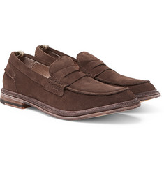 Officine Creative - Durham Suede Penny Loafers