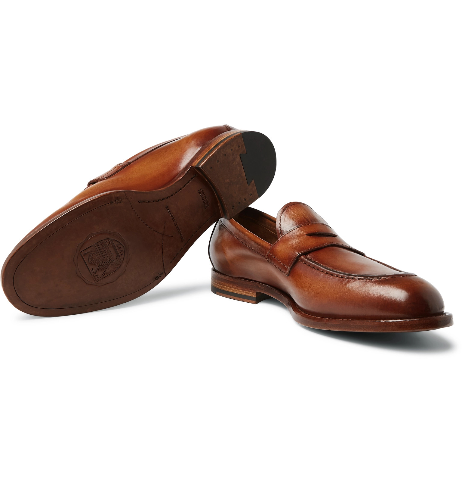 738c6b382fc Officine Creative - Ivy Polished-Leather Penny Loafers