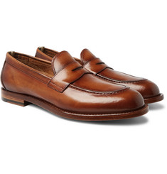 Officine Creative - Ivy Polished-Leather Penny Loafers