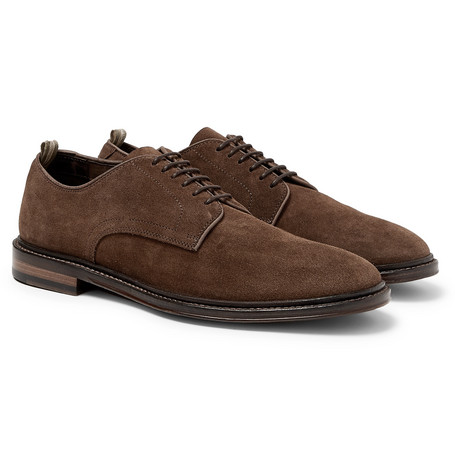 Cornell Suede Derby Shoes - Brown