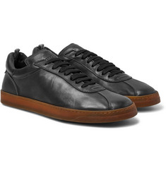 Officine Creative Karma Washed-Leather Sneakers