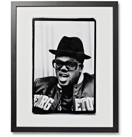 "SONIC EDITIONS Framed 1988 Run-Dmc Print, 16"" X 20"" in Black"