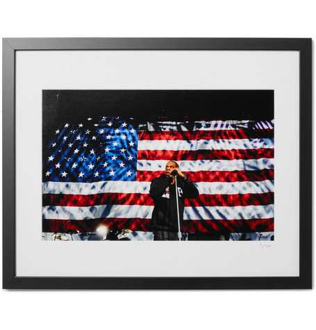 "SONIC EDITIONS Framed 2012 Jay-Z In Columbus Print, 16"" X 20"" in Black"