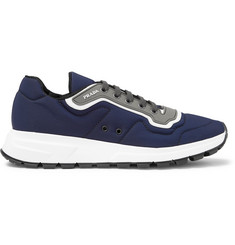 Prada Match Race Panelled Nylon, Leather and Rubber Sneakers
