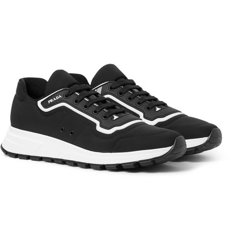 Match Race Rubber And Leather Trimmed Nylon Sneakers by Prada