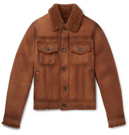 Shearling Trucker Jacket by Bottega Veneta