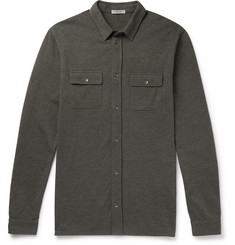 Bottega Veneta Garment-Dyed Cotton-Piqué Shirt