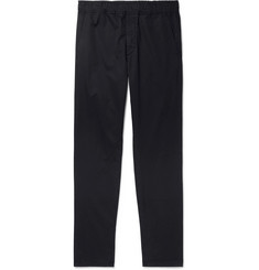 Bottega Veneta Midnight-Blue Garment-Dyed Cotton Trousers