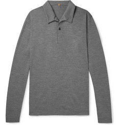 Caruso Mélange Wool Polo Shirt