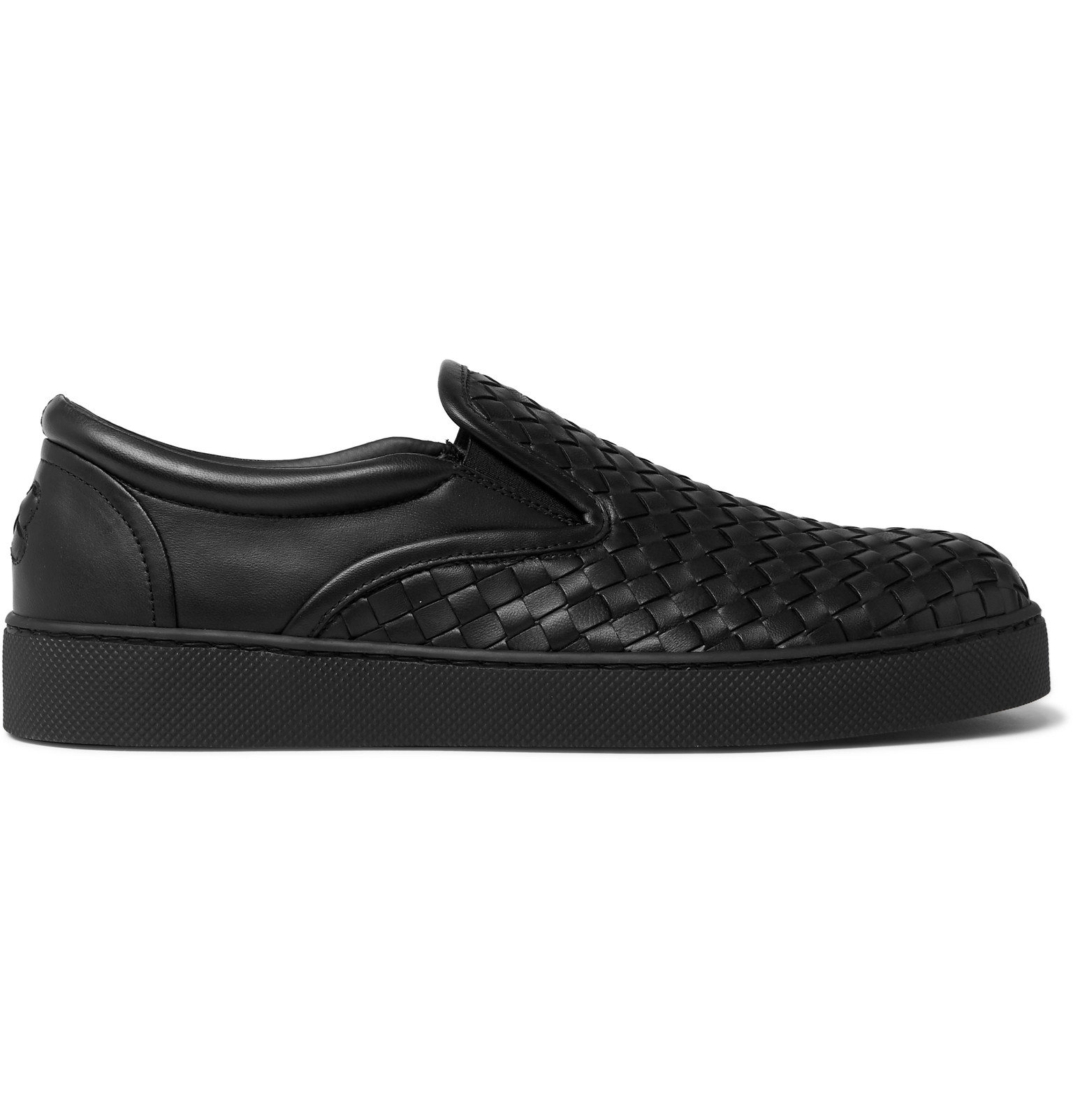 e6daa29281eb Bottega Veneta - Dodger Intrecciato Leather Slip-On Sneakers