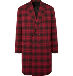 Balenciaga - Oversized Double-Breasted Checked Woven Coat