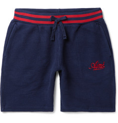 Aimé Leon Dore Logo-Embroidered Cotton-Fleece Shorts