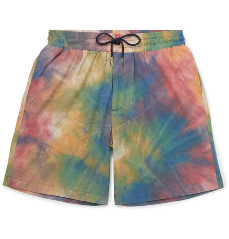 Leisure Tie Dyed Stretch Cotton Shorts by Aimé Leon Dore