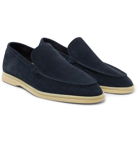 Summer Walk Suede Loafers - Navy