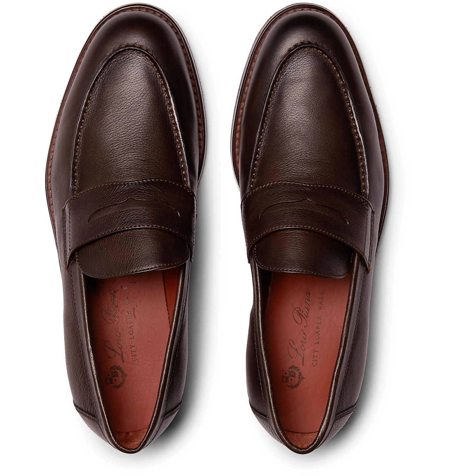 1121250fdcf Loro PianaCity Life Full-Grain Leather Loafers.  1