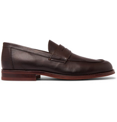 Loro Piana City Life Full-Grain Leather Loafers