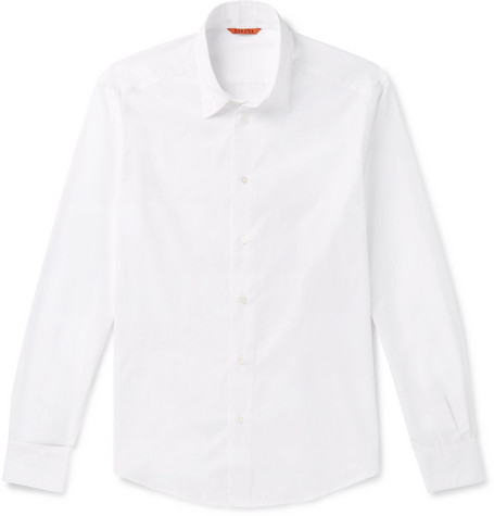 BARENA VENEZIA | Barena - Slim-Fit Cotton-Poplin Shirt - White | Goxip