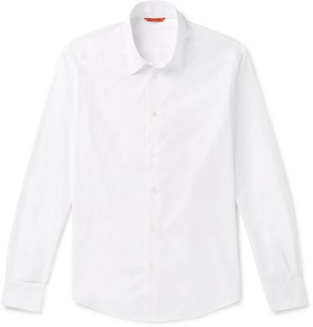 Slim Fit Cotton Poplin Shirt by Barena