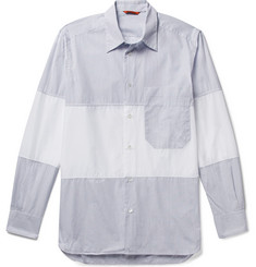 Barena Patchwork Cotton-Poplin Shirt