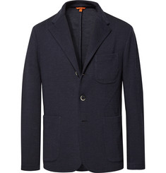 Barena Midnight-Blue Mesola Slim-Fit Unstructured Knitted Blazer