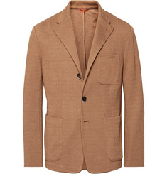 Barena Light-Brown Mesola Slim-Fit Unstructured Knitted Blazer