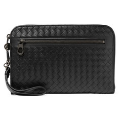 b2c17799d3 Bottega Veneta Intrecciato Leather Travel Wallet