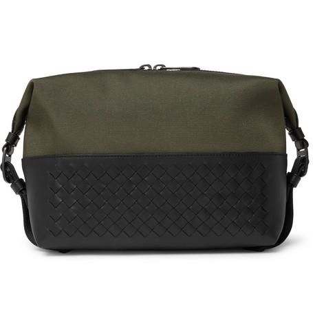 d9a0a3d269 Bottega Veneta - Canvas and Intrecciato Leather Wash Bag
