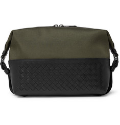 c18a082fe7a0 Bottega Veneta - Canvas and Intrecciato Leather Wash Bag