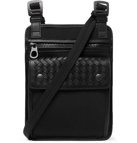 40cdc25bb4 Bottega Veneta - Canvas and Intrecciato Leather Messenger Bag