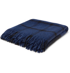 Bottega Veneta Checked Alpaca and Wool-Blend Throw
